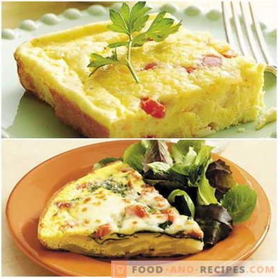 Omelett i ugnen - beprövade recept. Hur man gör det bra och gott, laga en omelett i ugnen.