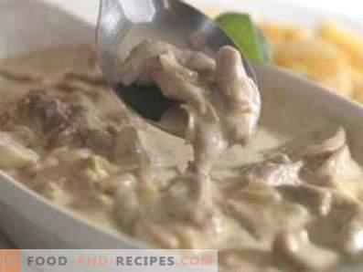 Pork stewed i gräddfil