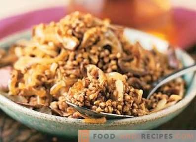 Bouillie de sarrasin aux champignons et oignons