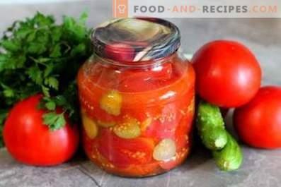 Tomat- och gurksallad för vintern
