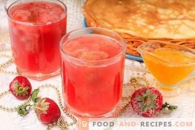 Kissel från frusna jordgubbar