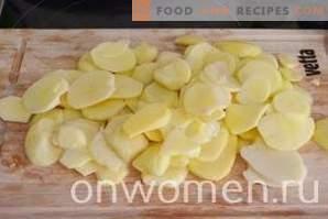Potato baked with potatoes