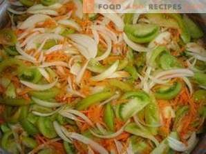 Salată de roșii verzi pentru iarnă