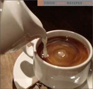 Kaffe med mjölk: bra eller skada