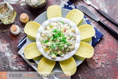 Incredibile insalata con champignons in salamoia in 15 minuti