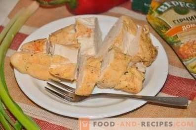 Kyckling i kryddor och senap i ett paket