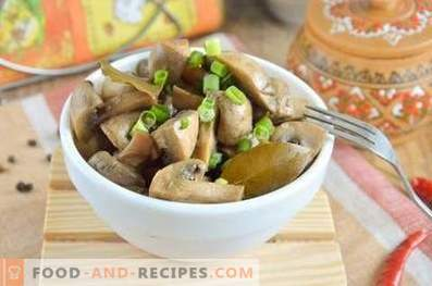Fast marinated champignons