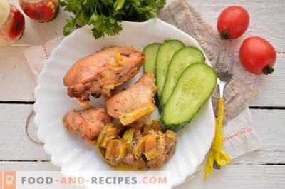 Kyckling med courgetter i ugnen