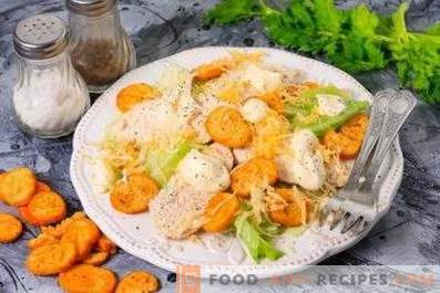 How to cook chicken for Caesar salad