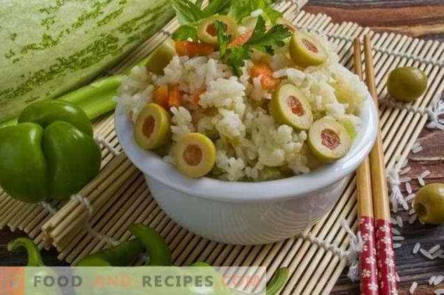 Jasmine ris med ketchup och oliver